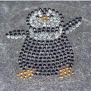 Artikel Nr-H00B14N-0__strass-buegelmotiv-aufbuegler-buegelbild-pinguin