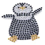 Artikel Nr-H00B14N-1__strass-buegelmotiv-aufbuegler-buegelbild-pinguin