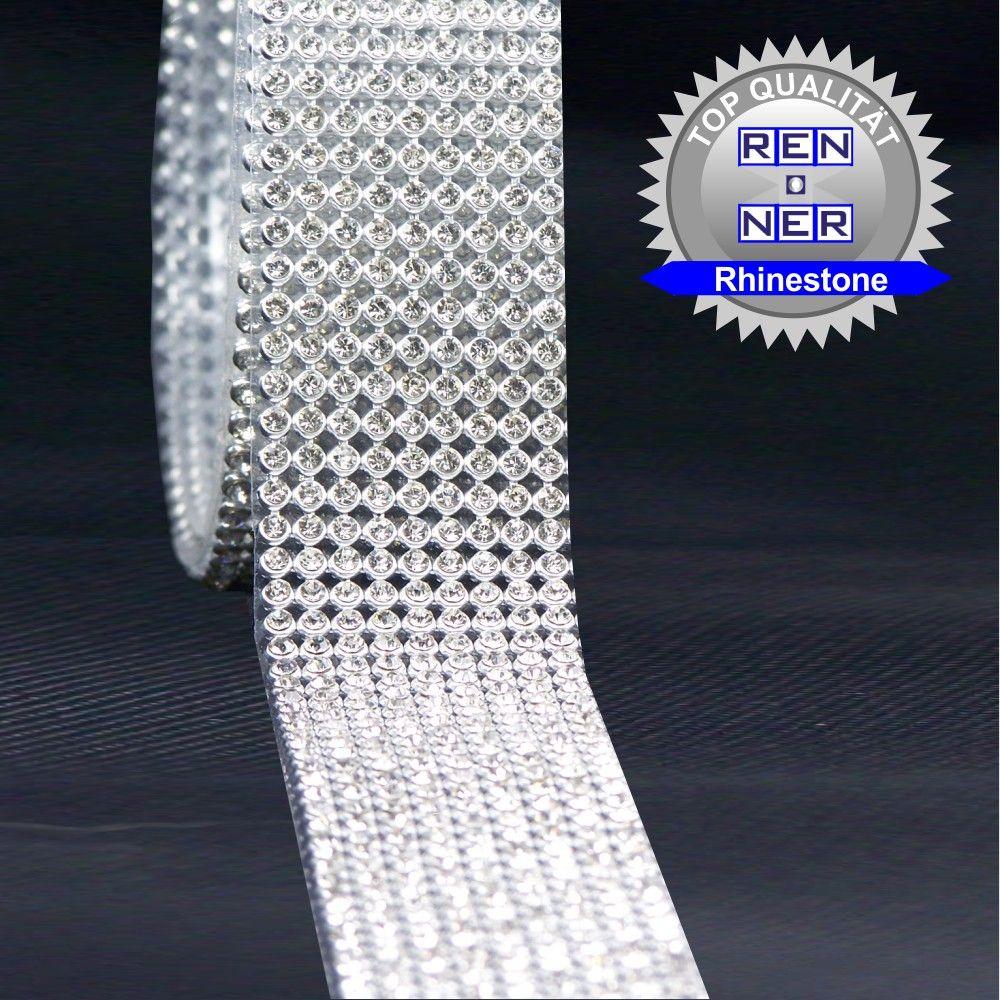 Artikel Nr-H01B14N-0__60cm-9-reihige-hotfix-strassband-mit-klaren-glaenzenden-strassteinen.-(lieferumfang-1-x-60cm)