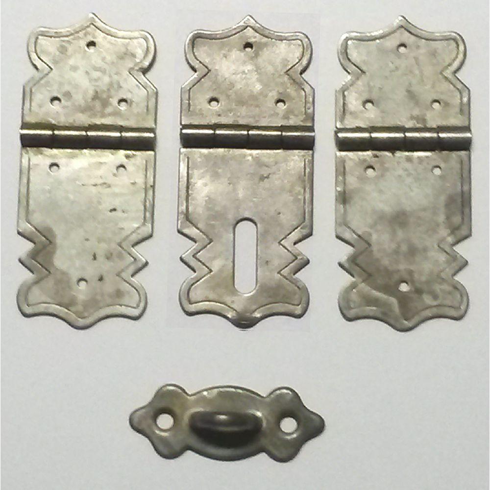 Artikel Nr-H02B24N-4__minatur-mini-eisen-beschlag-scharnier-verschluss-set-4-tlg.-aus-stahl,-4-tlg-stahl