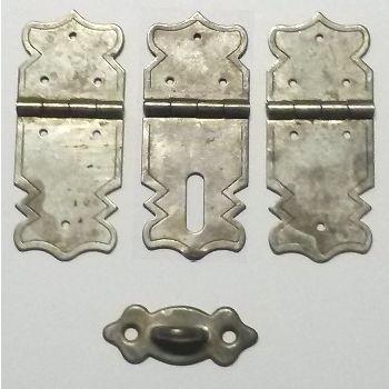 scharniere_Nr-H02B24N__mini-eisen-beschlag-scharnier-verschluss-moebelbeschlag-set-4-tlg