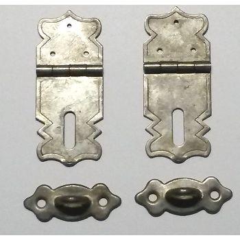 Artikel Nr-H02B25N-0__mini-eisen-beschlag-scharnier-verschluss-moebelbeschlag-set-4-tlg.-4-tlg