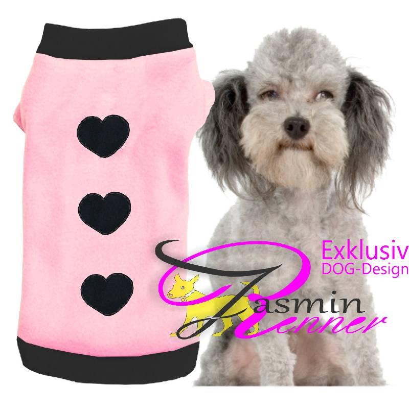 Artikel Nr-H08T67B-4__xxs,-wunderschoener-hundepulli-in-rosa-mit-schwarzem-buendchen-und-kragen-aus-fleece-stoff.-xxs-fleece-stoff