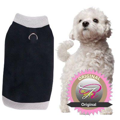 hundepullover_Nr-H08T94B__toller-hundepullover-der-farbe-grau-schwarzem-kragen-buendchen-aus-qualitaets-fleece-leinenring