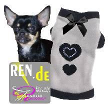 Artikel Nr-H09T02B-0__xxs,-feiner-pullover-fuer-hunde-in-der-farbe-grau-mit-schwarzem-buendchen-und-kragen-aus-qualitaets-fleece.-qualitaets-fleece