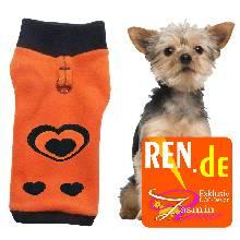 Artikel Nr-H09T24B-0__xxs,-schoener-hundepulli-in-der-farbe-orange-mit-schwarzem-buendchen-und-kragen-aus-fleece-stoff-mit-d-ring.