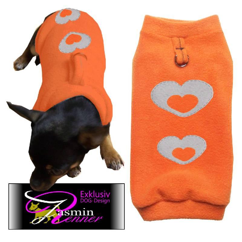 Artikel Nr-H09T26B-4__xxs,-weicher-und-warmer-hundepullover-in-orange-aus-weichem-fleece-mit-d-ring.-xxs-d-ring