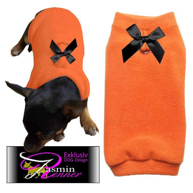 Artikel Nr-H09T41B-4__xxs,-toller-hundepullover-in-orange-aus-edlem-fleece-mit-d-ring.-d-ring