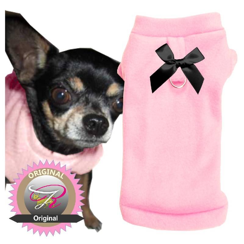 Artikel Nr-H09T44B-4__xxs,-warmer-pulli-fuer-hunde-in-rosa-aus-fleece-stoff-mit-leinenring.-fleece-stoff-leinenring