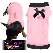 Artikel Nr-H09T46B-0__xxs,-reizender-hundepullover-in-der-farbe-rosa-mit-schwarzem-buendchen-und-kragen-aus-qualitaets-fleece-leinen-ring.-qualitaets-fleece-leinen-ring