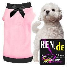 Artikel Nr-H09T47B-0__xxs,-herrlicher-pullover-fuer-hunde-in-der-farbe-rosa-mit-schwarzem-buendchen-und-kragen-aus-qualitaets-fleece.-qualitaets-fleece