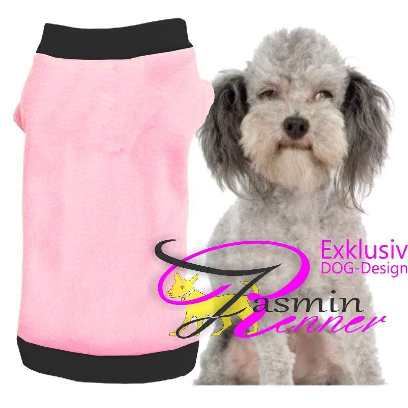 Artikel Nr-H09T49B-4__xxs,-huebscher-pullover-fuer-kleine-hunde-in-der-farbe-rosa-mit-schwarzem-buendchen-und-kragen-aus-fleece-stoff.-fleece-stoff