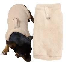 hundepullover_Nr-H09T51B__entzueckender-pulli-fuer-kleine-hunde-der-farbe-grau-schwarzem-kragen-buendchen-aus-qualitaets-fleece-leinenring