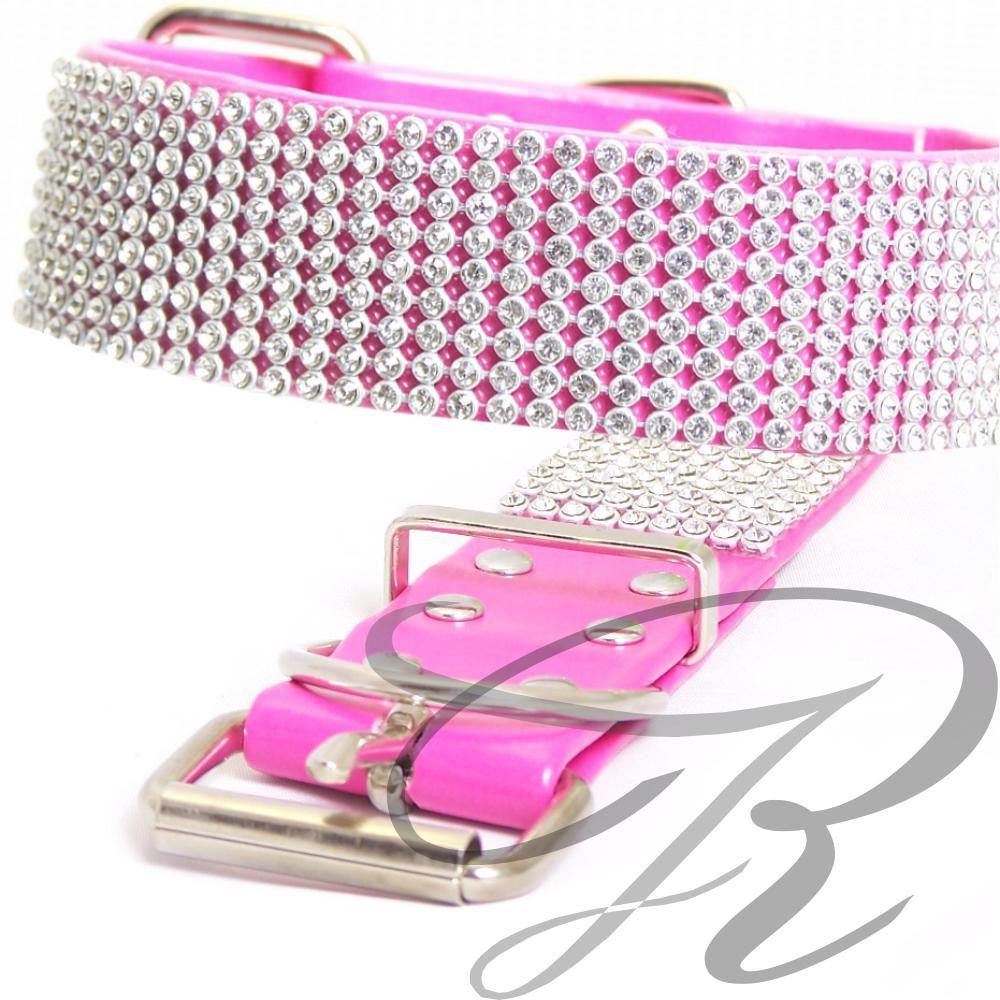 Artikel Nr-H67T28B-4__xs,-30mm-hundehalsband-mit-strass-9-reihig-in-schoenen-pink.-xs-9-reihig-pink