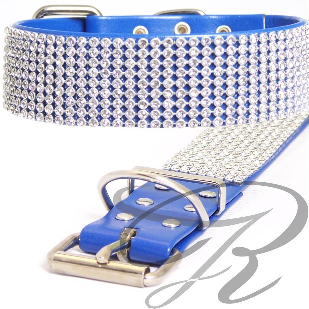 Artikel Nr-H67T38B-4__xs,-30mm-schmuckhalsband-mit-strass-9-reihig-in-schoenen-blau.-9-reihig-blau