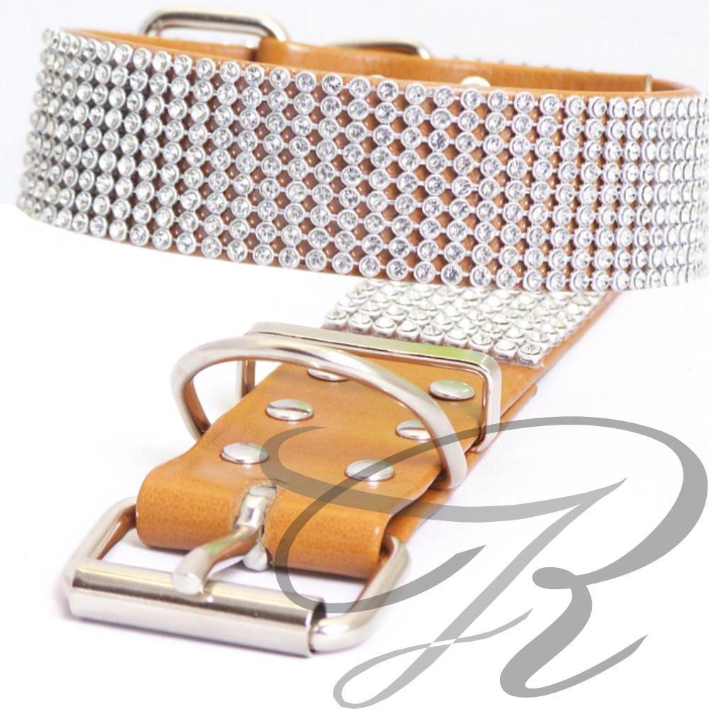 Artikel Nr-H67T43B-4__xs,-30mm-hundehalsband-mit-strass-9-reihig-in-schoenen-braun.-9-reihig-braun