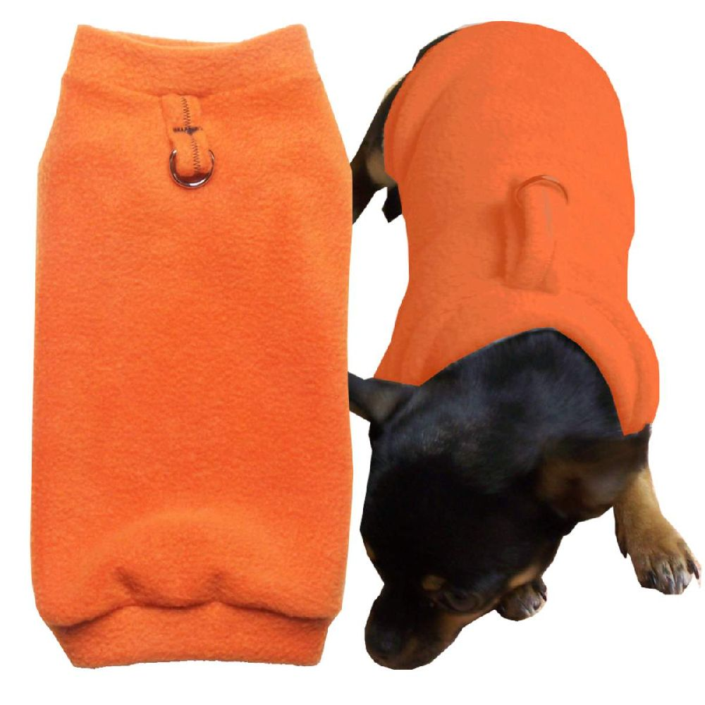 Artikel Nr-H70T29B-4__xxs,-flauschiger-pullover-fuer-kleine-hunde-in-der-farbe-orange-aus-qualitaets-fleecestoff-mit-leinenring.-xxs-qualitaets-fleecestoff-leinenring