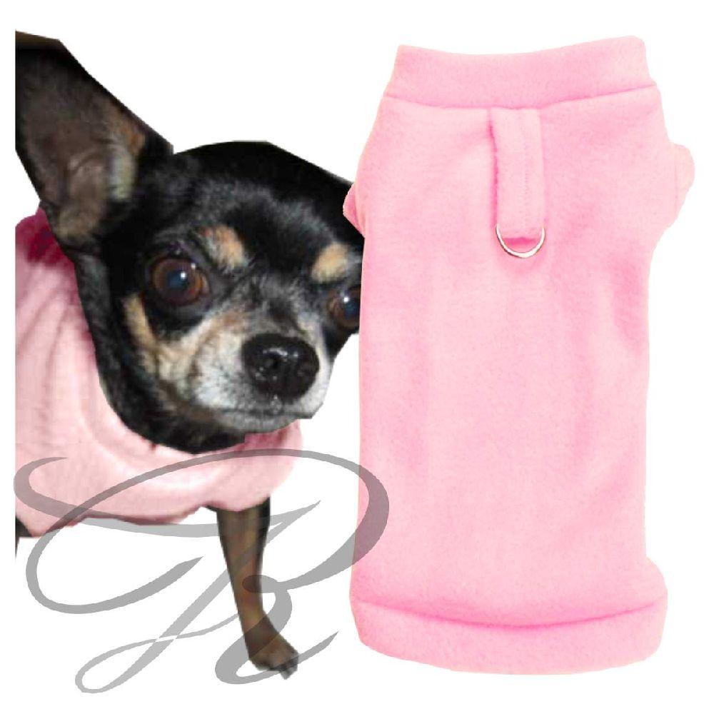 Artikel Nr-H70T33B-4__xxs,-flauschiger-pullover-fuer-kleine-hunde-in-der-farbe-rosa-aus-qualitaets-fleecestoff-mit-leinenring.-qualitaets-fleecestoff-leinenring