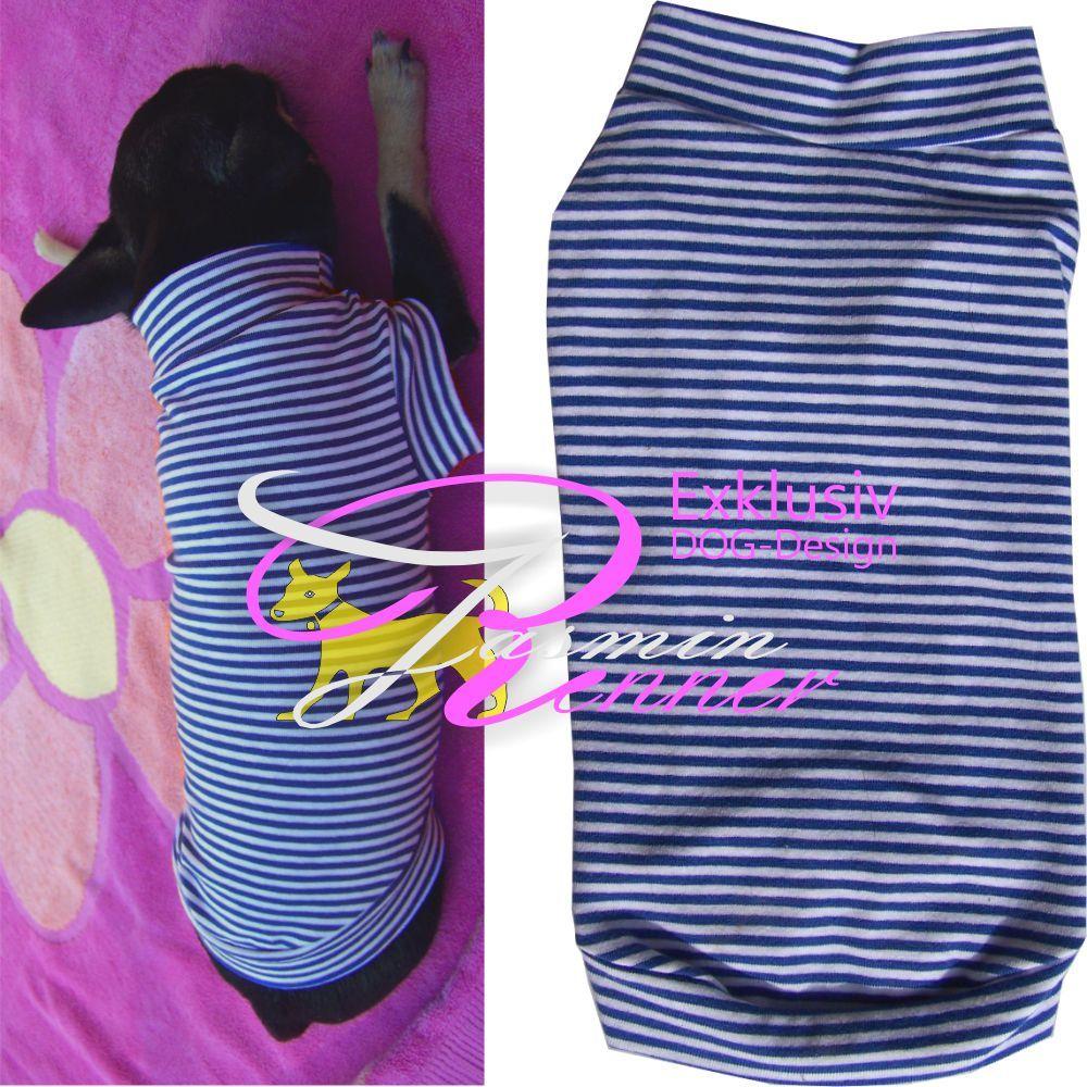 xs hundepullover f r kleine hunde chihuahua minimalteser usw in der farbe blau mit wei en. Black Bedroom Furniture Sets. Home Design Ideas
