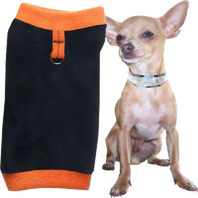 Artikel Nr-H71T40B-0__xxs,-flauschiger-pullover-fuer-kleine-hunde-in-der-farbe-schwarz-orange-aus-qualitaets-fleecestoff-mit-leinenring.-schwarz-orange-qualitaets-fleecestoff-leinenring