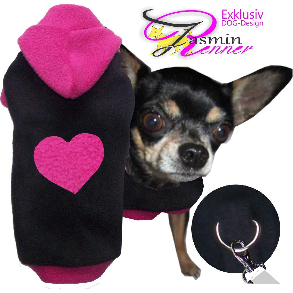 Artikel Nr-H80T87B-4__xxs,-flauschiger-pullover-mit-kaputze-u.-herz-in-der-farbe-schwarz-pink-aus-qualitaets-fleecestoff-leinenring.-u-schwarz-pink-qualitaets-fleecestoff-leinenring