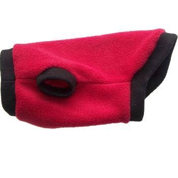 Artikel Nr-H80T95B-1__xxs,-flauschiger-pullover-mit-kaputze-in-der-farbe-rot-schwarz-aus-qualitaets-fleecestoff-leinenring.-rot-schwarz-qualitaets-fleecestoff-leinenring