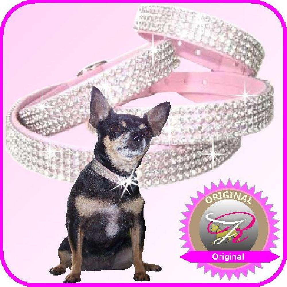 Artikel Nr-H81T23B-4__xxs,-15mm-strasshalsband-hundehalsband-mit-strass-4-reihig-in-schoenen-rosa.-4-reihig-rosa