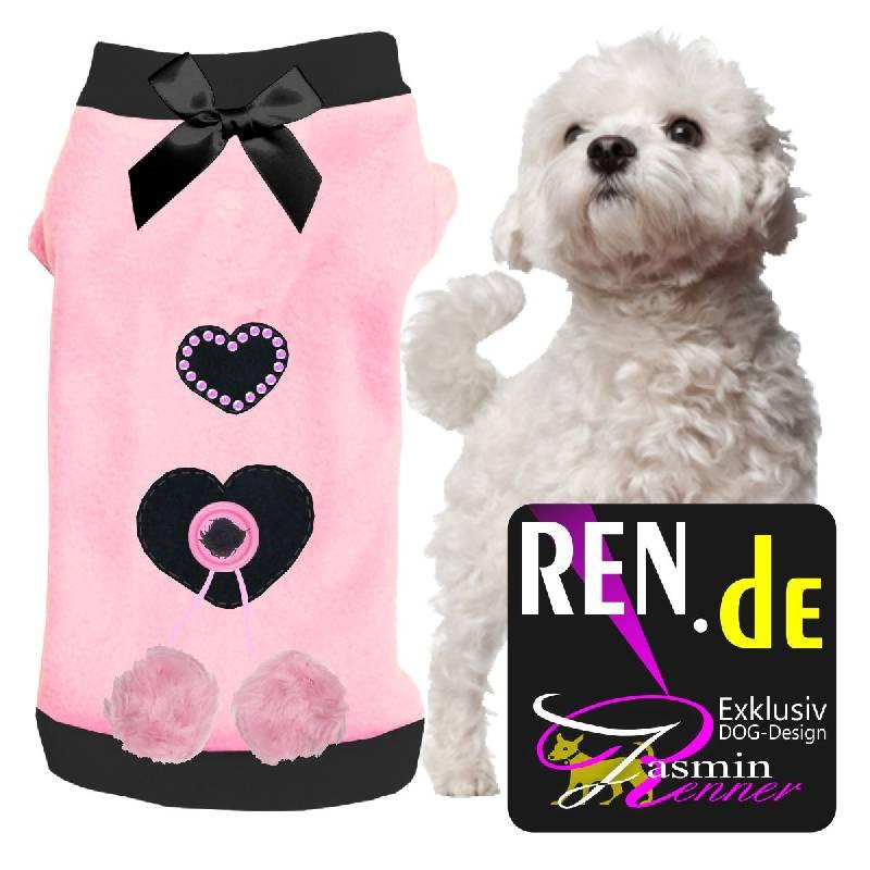 Artikel Nr-H08T66B-0__huebscher-hundepullover-in-der-farbe-rosa-mit-schwarzem-kragen-und-buendchen-aus-edlem-fleece.